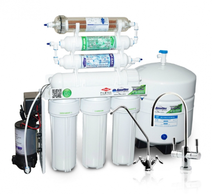 Система обратного осмоса AquaPlus Lux 7 Pump