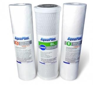 Набір картриджів AquaPlus № 1 для зворотного осмосу